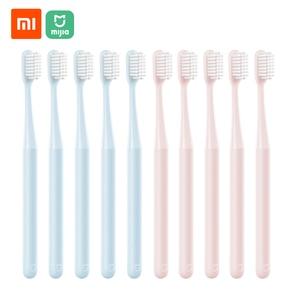 Image 1 - 10 ピース/ロット Xiaomi Mijia 歯ブラシ大人歯ブラシソフト毛口腔ケア家族大人子供妊娠中の女性