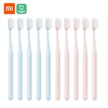 Xiaomi mijia escova de dentes para adultos, escovas de dente de cerdas macias, cuidados orais para famílias adultos e crianças grávidas 10 pçs/lote