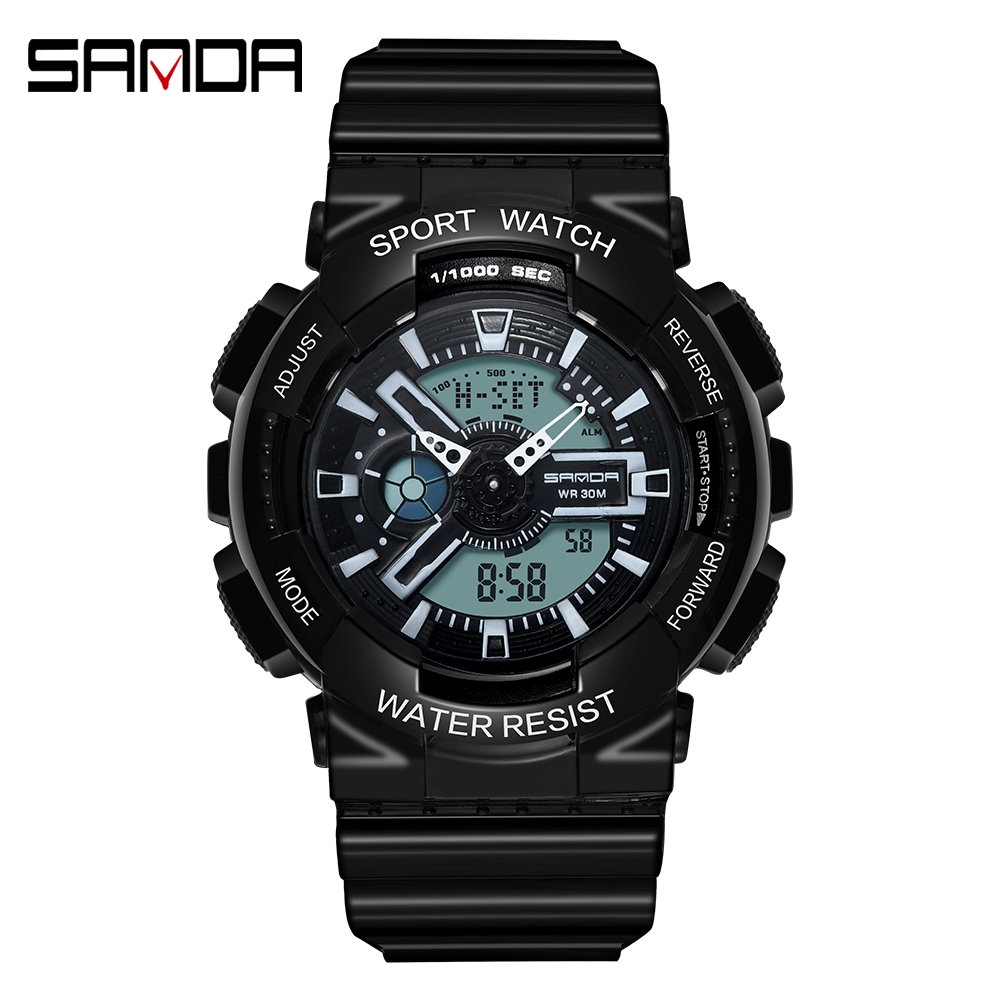 2020 SANDA Military Men's Watch Top Brand Luxury Waterproof Sport Wristwatch Fashion Quartz Clock Couple Watch relogio masculino 21