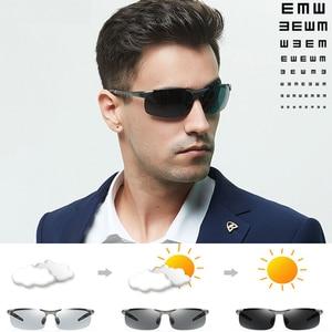 Image 1 - קוצר ראיה Photochromic משקפי שמש diopter מקוטב נהיגה goggle גברים זיקית שינוי צבע מעבר מרשם משקפיים שמש