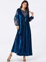 2020 Hijab Hijab Dress Muslim Evening Dress Vestidos For Muslim Women 9097 Big Women's Embroidery Arab Big Long Skirt