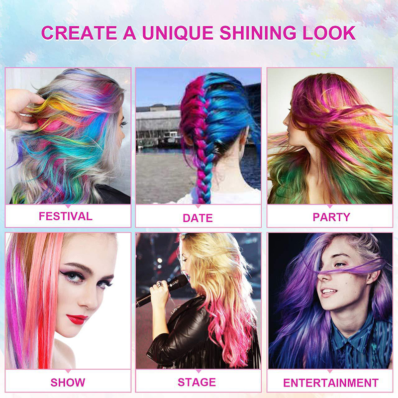 6/12 Color Temporary Hair Color Chalk Dye Colorful Hair Crayon DIY Styling Tools For Girls Kids Party Cosplay Creme 5