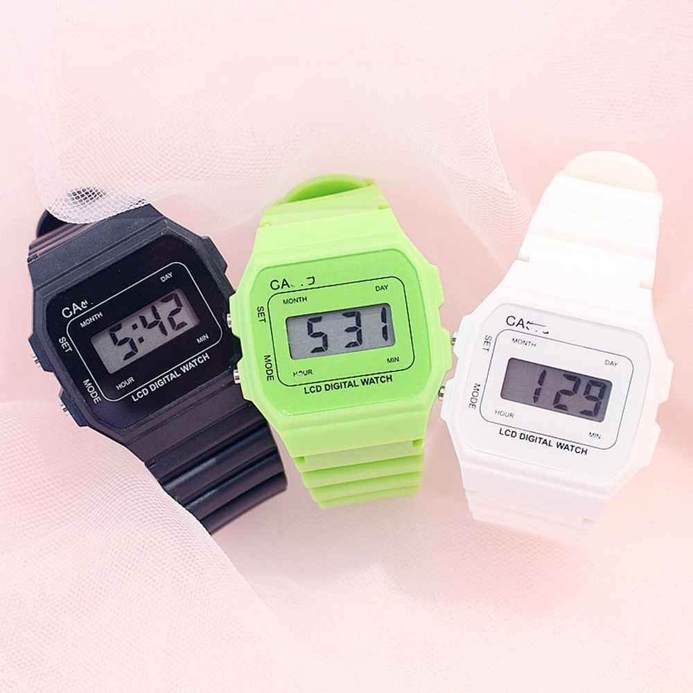 Digitale White Wathes Women Ladies Watches Kol Saat Reloj Mujer Watch Wristwatch Relogiio Feminino Relojes Montre Femme Digital
