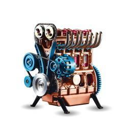 Цельнометаллический автомобиль мини сборный встроенный четырехцилиндровый автомобиль модель двигателя игрушки модели наборы головоломк...