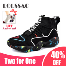 BOUSSAC 35-47 High Top Running Shoes For Men Women Ankle Boots Thermal Winter Fur Sport Athletic Male Sneakers