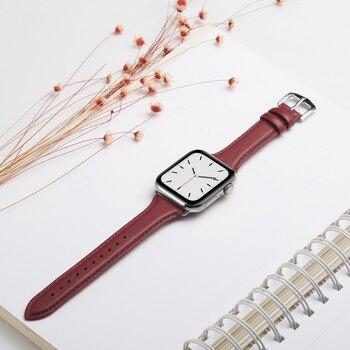 Ремешок из натуральной кожи для Apple Watch 38-42 мм 6