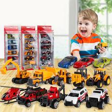 6Pcs Simulation KIds Car Model Toy Metal Mini Diecast Militarial Fire Fighting Racing Car Vehicle Model Toys For Kids 6pcs set back car toys inertia racing car model baby mini construction vehicle fire truck taxi kids toy for boy gifts