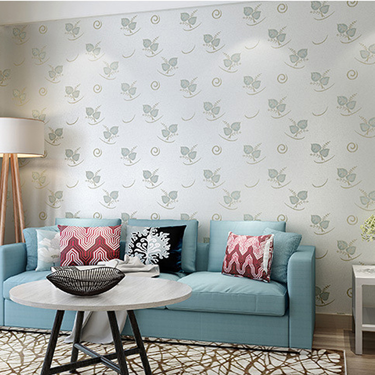 Seamless Wall Cloth Modern Minimalist Pastoral Style Wall Covering Fabric Bedroom Marriage House Non-woven Wallpaper Manufacture