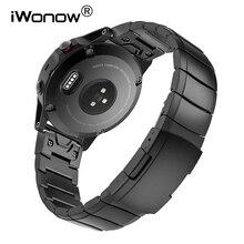 Bracelet de montre en acier inoxydable 20mm 22mm 26mm bracelet à ajustement rapide pour Garmin Fenix 6X/5X/6 S/5 S/6 Pro/5 Plus/3 HR bracelet de montre
