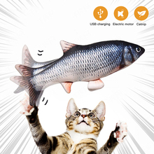 Pet Cat Electronic Toy Automatic Funny Cat Exercise USB Charging Simulation Fish Toys for Dog Chewing Playing Biting Supplies