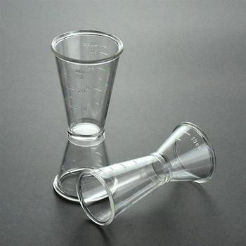 20 40ml koktajl miarka barmańska narzędzia przeźroczyste tworzywo sztuczne podwójna miarka spirytusowa do baru domowego Party akcesoria barowe tanie i dobre opinie HKEPS CN (pochodzenie) Z tworzywa sztucznego Ekologiczne Na stanie Cocktail Measure Cup Miarki barmańskie CE UE Przybory barowe