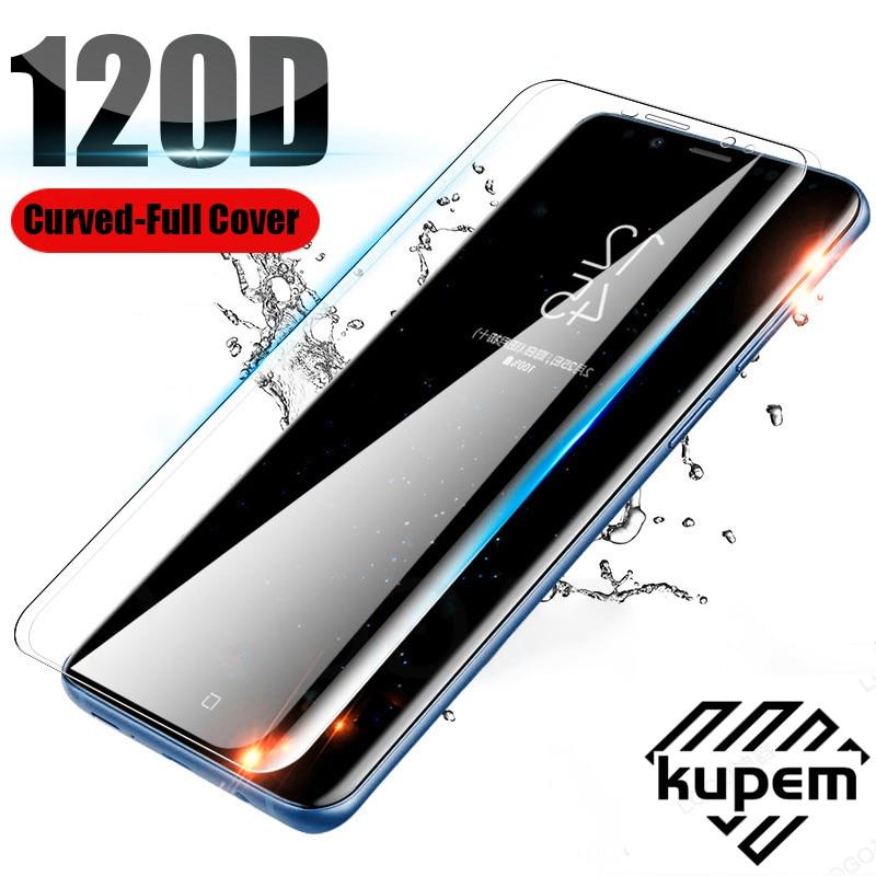 Закаленное стекло с полным покрытием 120D для Samsung Galaxy S10 S9 S8 Plus S10E, защитная пленка для Samsung Note 8 9 10 Plus A50