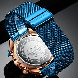 Image 5 - Мужские часы CRRJU, роскошные брендовые армейские военные часы, высокое качество, 316L, нержавеющая сталь, хронограф, часы Relogio Masculino 2020