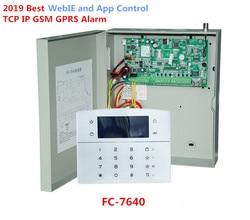 Beste Alarm FC-7640 Industrielle Rj45 Ethernet Alarm System 8 Verdrahtete Zonen 32 Drahtlose Zonen Tcp Ip Gsm Alarm System Mit metall Fall