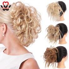 Manwei спутанные волосы шиньоны для женщин синтетический парик