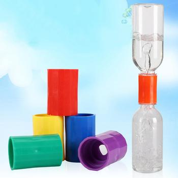 Plastic Vortex Bottle Water Connector Science Cyclone Tube Kids DIY Handmade Experiment Tool Toys image