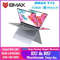 BMAX Y13 360° Laptop 13.3 inch Notebook Windows 10  8GB LPDDR4 256GB SSD 1920*1080 IPS Intel N4120 touch screen laptops