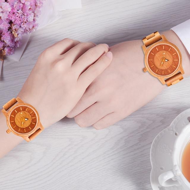 Shifenmei 2019 Couple Wristwatch Wood Watches Women Men Analog Quartz Fashion Watch for Couples Christmas Gifts erkek kol saati 4