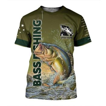 Jumping bass fishing T shirt all over print