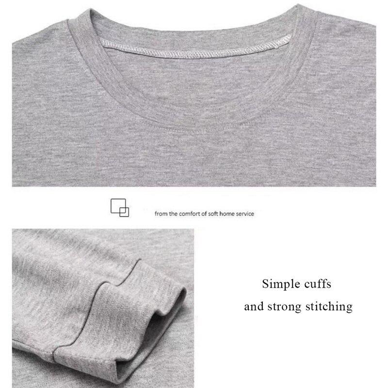 pijamas conjuntos de algodão pijamas manga longa