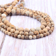 Picture Stone Natural?Stone?Beads?For?Jewelry?Making?Diy?Bracelet?Necklace?4/6/8/10/12?mm?Wholesale?Strand