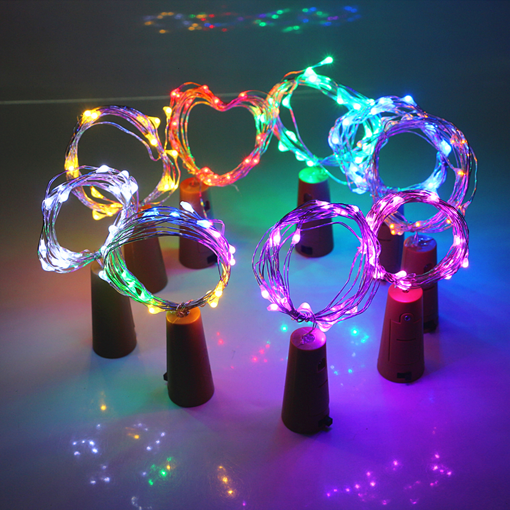 Beer Bottle Light With Cork Shaped 1/2/3/4M LED Copper Silver String Lamp For Christmas Wedding Party Fairy Light Decoration