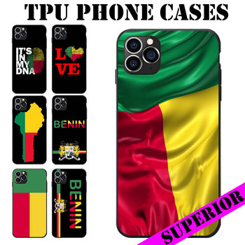 For Huawei Maimang Nova 2 3 4 5 6 8 I S Pro Plus Benin Flag Coat Of Arms Theme Heart Map Love Soft TPU Phone Cases Cover image
