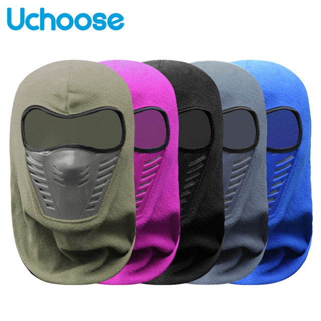 Outdoor Winter Warm Motorcycle Full Face Mask  Bicycle Bike Climbing Ski Windproof Carbon Filter Mask Balaclava Head Protector 2