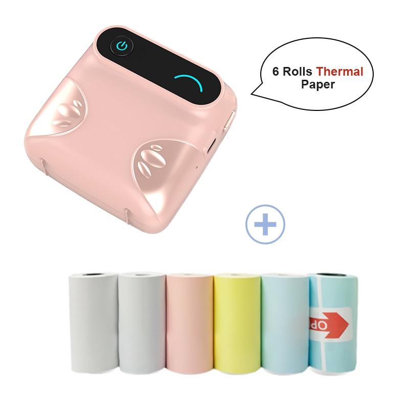 Mini Portable Bluetooth Wireless Pocket Photo Printer Smart Phones A6 MPeriPage Thermal Printing USB Connection Impresoras Fotos