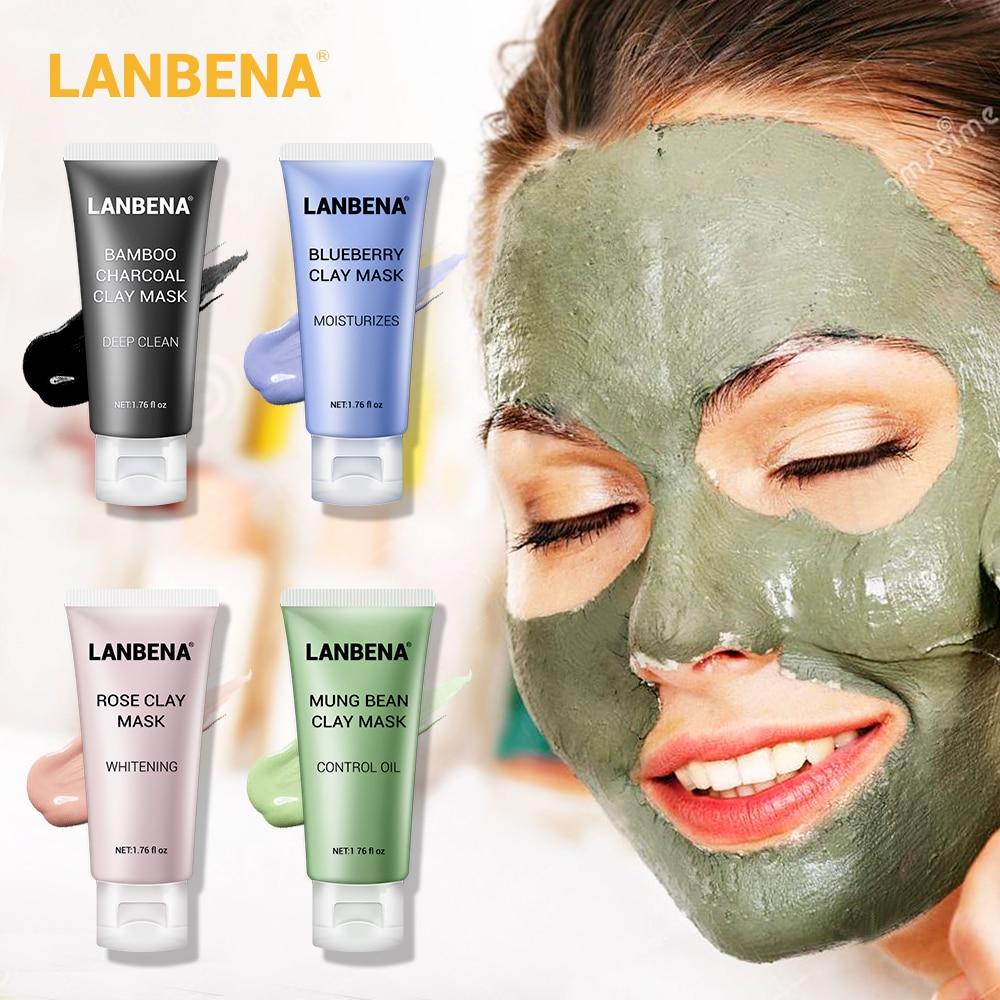LANBENA маска для лица черная маска от черных точек черные точки маска на лицо маска для ухода за кожей черный маски для лица Манг Bean глиняные ма...