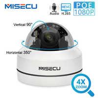 MISECU H.265 1080P PTZ IP Camera 4X Zoom Mini Speed Dome Esterna In Metallo Impermeabile 2MP POE CCTV di Sicurezza Onvif p2P IR 40M Macchina Fotografica