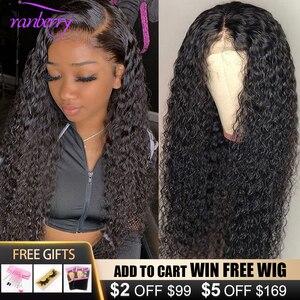 Волосы из клюквы 4X4, парик на шнурке, Remy, перуанские, волнистые, кружевные, передние человеческие волосы, парики для женщин, предварительно вы...