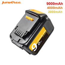 Сменный литий-ионный аккумулятор Powtree 18/20 в 4,0/9000 Ач DCB200 для электроинструмента DeWalt MAX XR 20 в 184 мАч, литиевые батареи DCB200