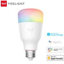Original Yeelight 1S YLDP13YL สมาร์ทหลอดไฟ LED ที่มีสีสัน 800 Lumens 8.5W E27 มะนาวสมาร์ทสำหรับ Mi Home APP สีขาว/RGB
