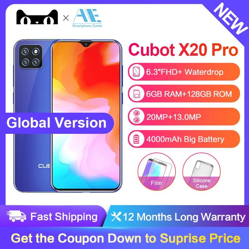 "Cubot X20 Pro 6.3"" FHD+ Waterdrop Screen AI Mode Triple Camera Smartphone Android 9.0 6GB+128GB Octa Core 4000mAh Face ID Phone(China)"