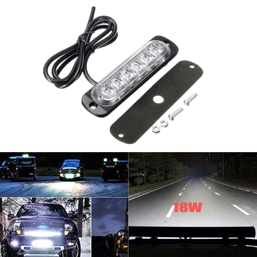 Universal do carro 12v-24v, 1 peça, trabalho, barra de luz led, inundações, spot, offroad 4wd, suv do carro farol de milha acessórios automotivos