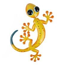 Statues dextérieur, miniatures murales en métal Gecko, décoration de jardin pour la maison, accessoires de jardin, Sculptures