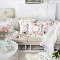 French Romantic Versailles Garden Velvet Lace Cushion Cover Pillow Cover Pillowcase Home Decorative Sofa Throw Pillow Chair Seat