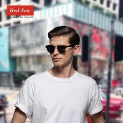 Красный сын классические Поляризованные мужские и женские солнечные очки модные зеркальные UV400 Солнцезащитные очки мужские и женские