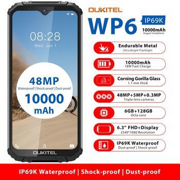 OUKITEL WP6 10000mAh 6.3'' FHD+ IP68 Waterproof Mobile Phone 6GB 128GB Octa Core 48MP Triple Cameras Rugged Smartphone 2