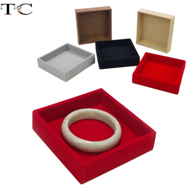 High-grade Linen Flannelette Tray Ring Display Tray Jewelry Display Tray Jewelry Box Propsa Accessories Tray