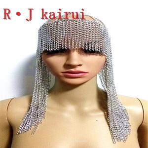 Image 4 - ใหม่แฟชั่นสไตล์WRB949ผู้หญิงสายรัดโซ่ทองชั้นใบหน้าโซ่เครื่องประดับคอสเพลย์ผมโซ่เครื่องประดับ3สี