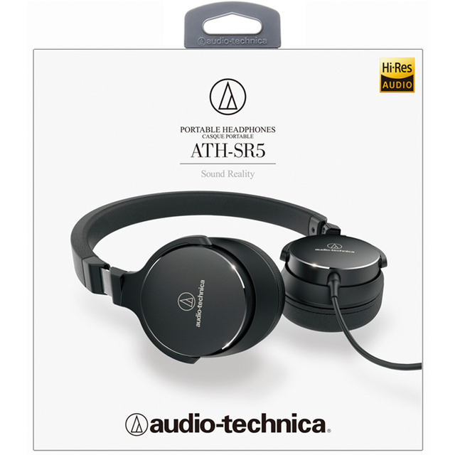Original Audio Technica SR5 Wired Headphone Foldable Portable Sports Game Headset HD Sound Earphone 1-button Remote with Mic 2