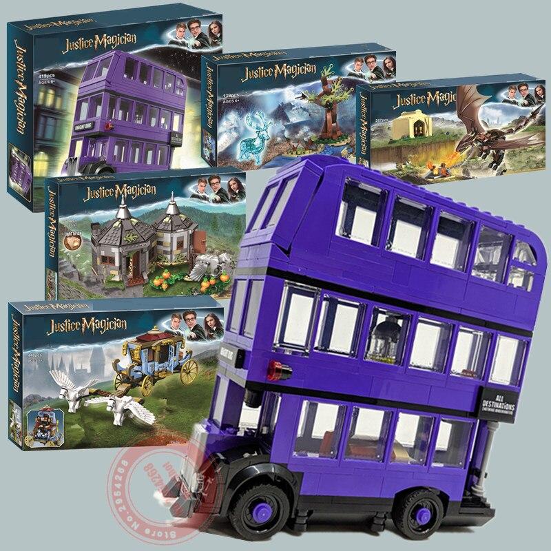 New Magic Movie Hogwart Clock Tower Fit Legoings Harri 75945 75946 75957 75958 75965 75948 Model Building Block Bricks Toy Gift