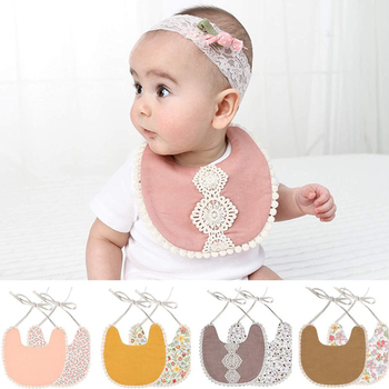 Baby Bibs Tassel Saliva Towel Cotton Cute Bib Dribble Bandana Scarf Boys Girls 1PC Double Side Bibs Vintage Newborn new cute baby bibs cartoon printing cotton newborn infant girls and boys toddler triangle scarf bandana