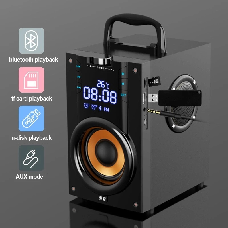 New 2021 hot Column outdoor Loudspeakers Subwoofer computer speaker Larger power Bluetooth Speaker Portable Music center with remote