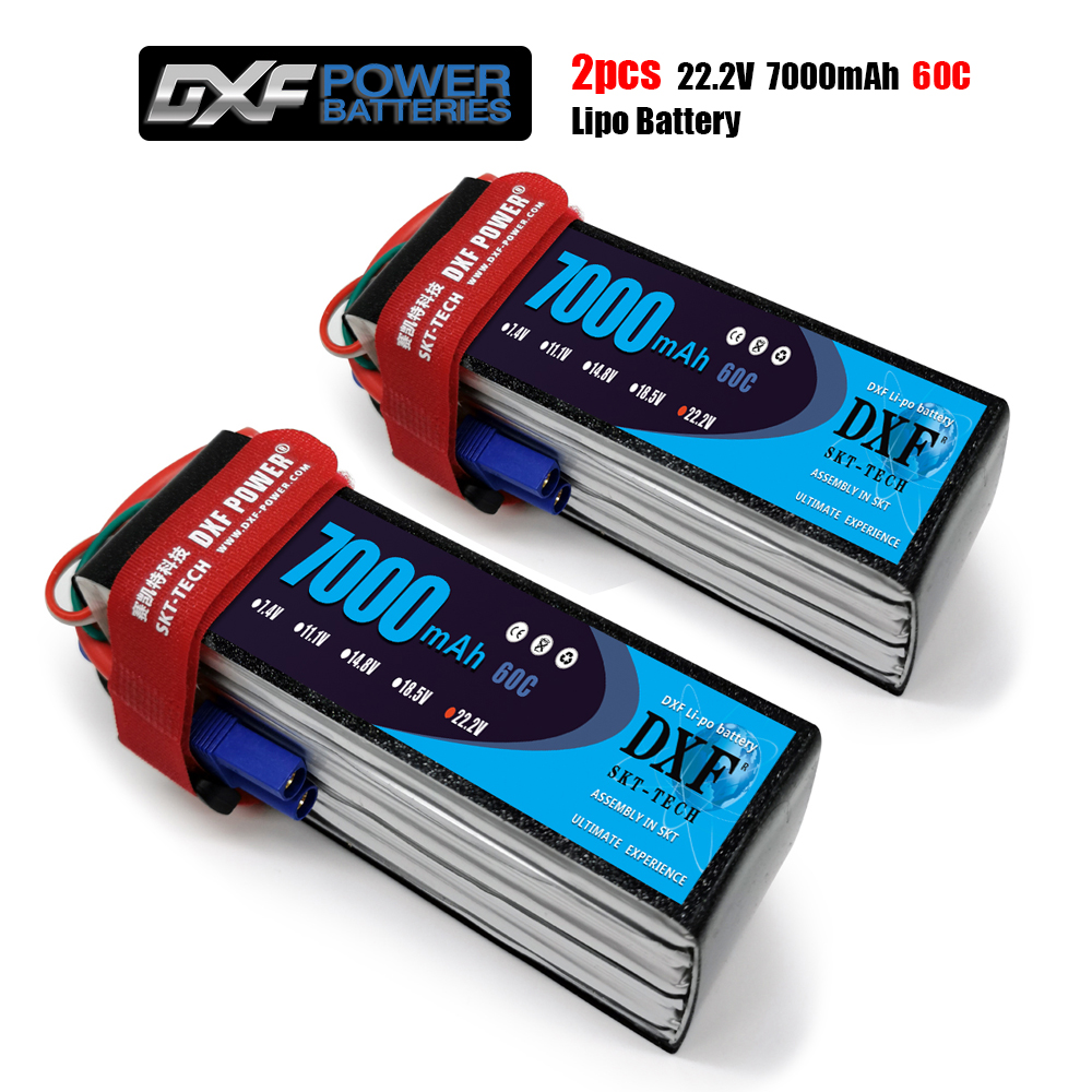 2020 DXF  Lipo Battery  6S 22.2V 7000mah 60C Max 120C Toys & Hobbies For Helicopters RC Models Li-polymer Battery