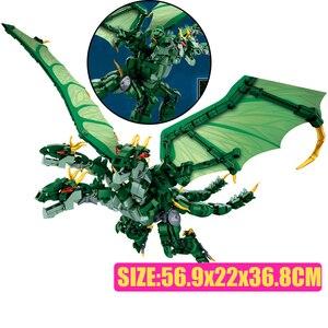 Sluban Godzillaingly Riesen Ghidrahed Rodaned Gebäude Block König der Monstersed modell Ziegel Spielzeug für jungen geschenk Konstruktor