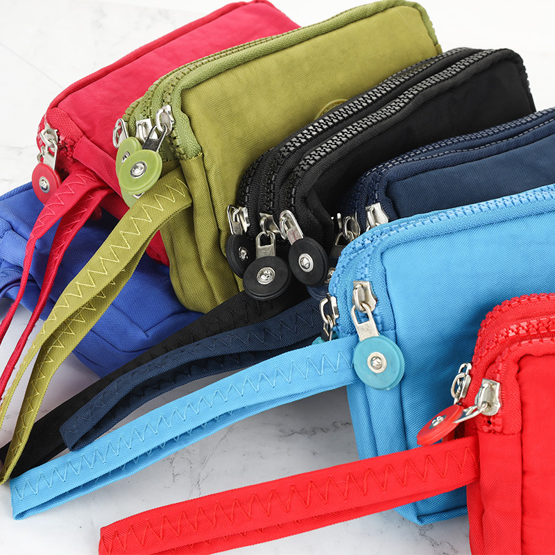 2019 New Style Wallet Women's Multi-functional Phone Bag Three Layer Zipper Cross Carrying Purse Short Wallet