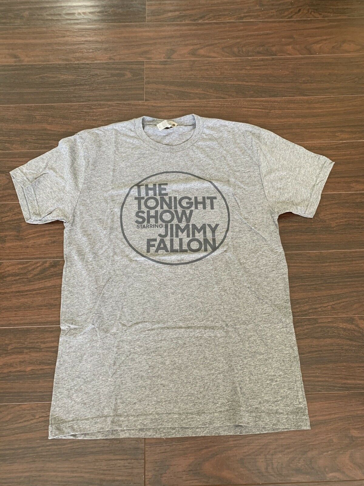 NBC <font><b>The</b></font> <font><b>Tonight</b></font> <font><b>Show</b></font> Starring Jimmy Fallon Thin Gray Medium T Shirt Soft! image